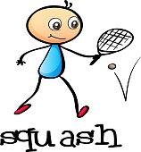 stickman playing tennis