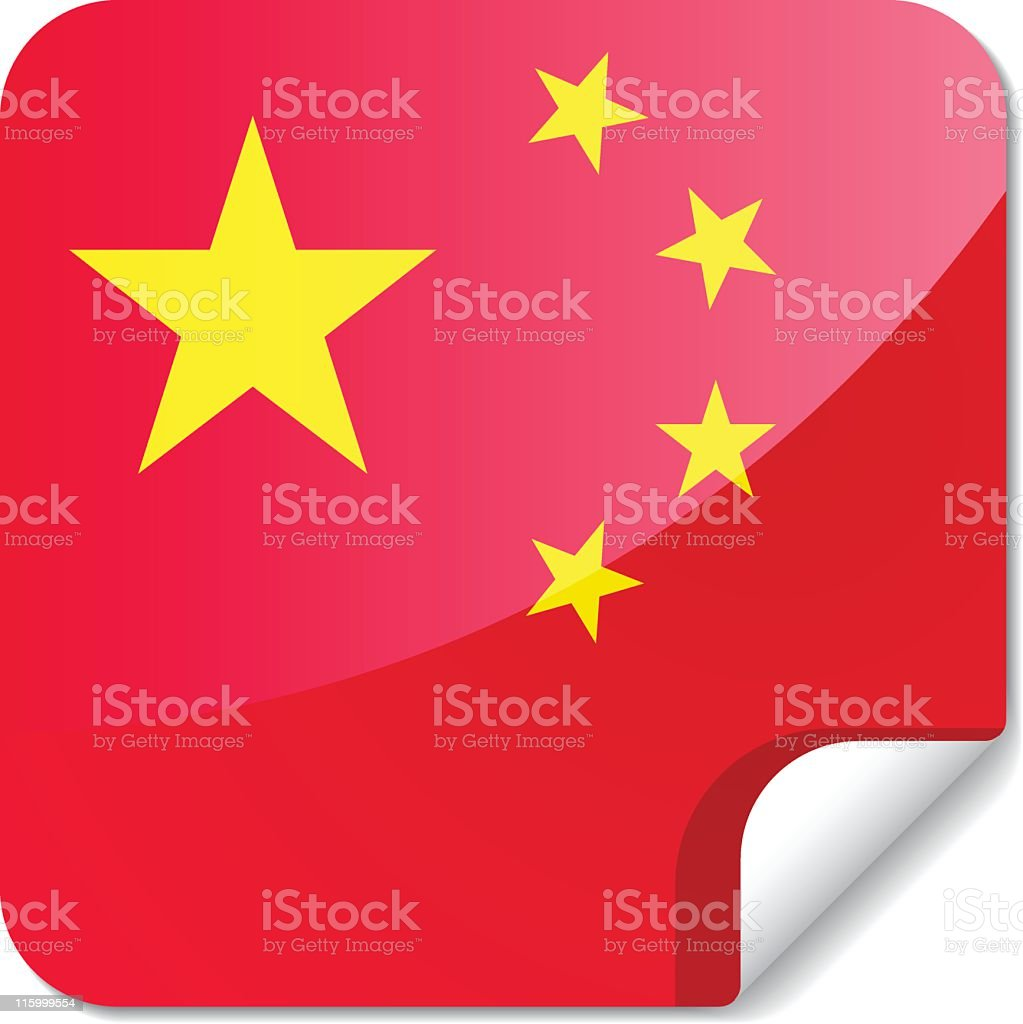 Sticky Flags | china royalty-free stock vector art