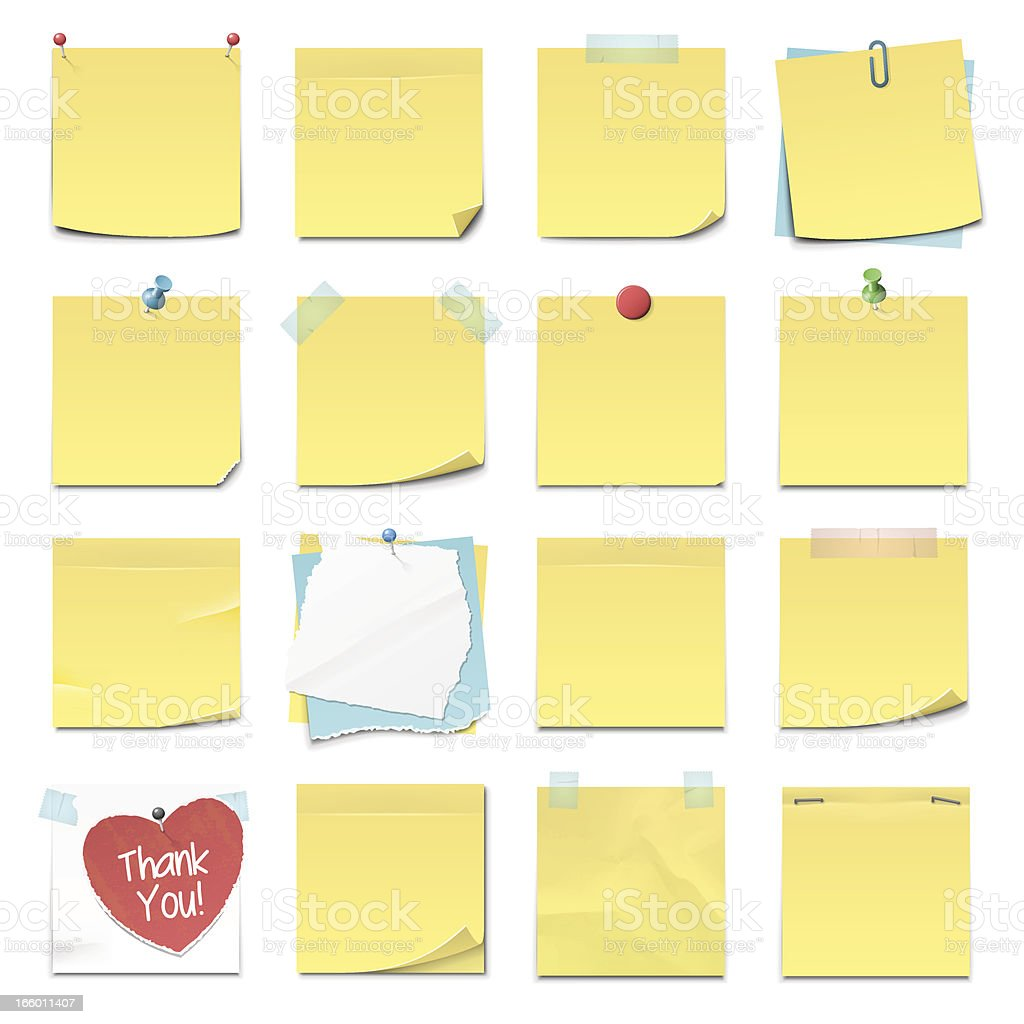 Sticky Notes royalty-free sticky notes stock vector art & more images of adhesive note