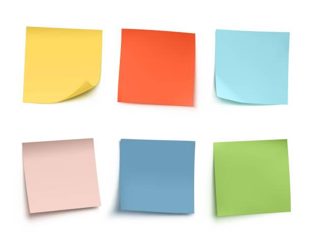 sticky notes - lepki stock illustrations