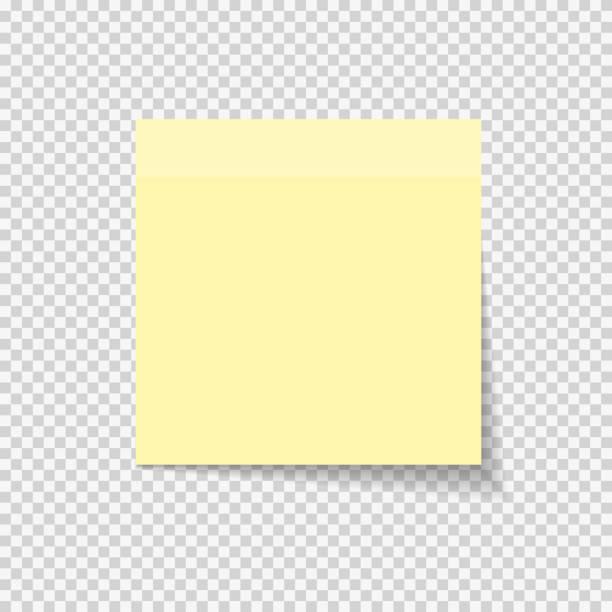 klebrigen papier hinweis auf transparenten hintergrund vektor illustratio - post stock-grafiken, -clipart, -cartoons und -symbole