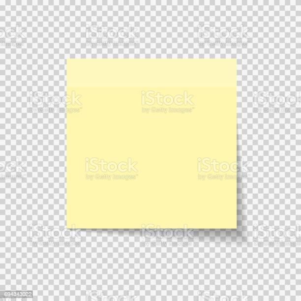 Klebrigen Papier Hinweis Auf Transparenten Hintergrund Vektor Illustratio Stock Vektor Art und mehr Bilder von Brief - Dokument