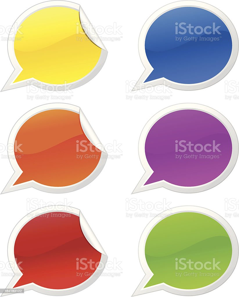 Sticky talk bubbles royalty-free sticky talk bubbles stock vector art & more images of adhesive note