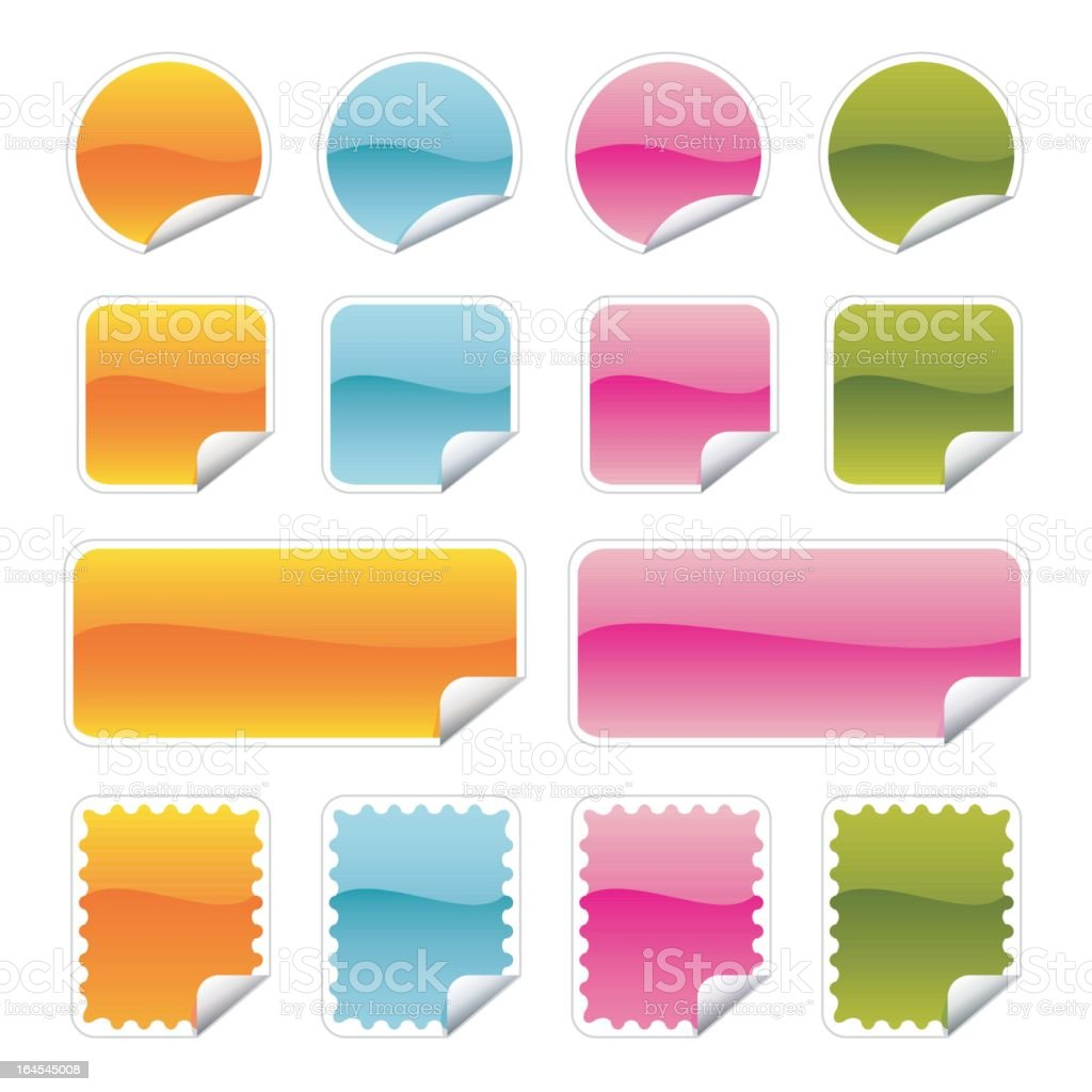 sticky royalty-free stock vector art