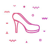 Stiletto Line Style Icon Design