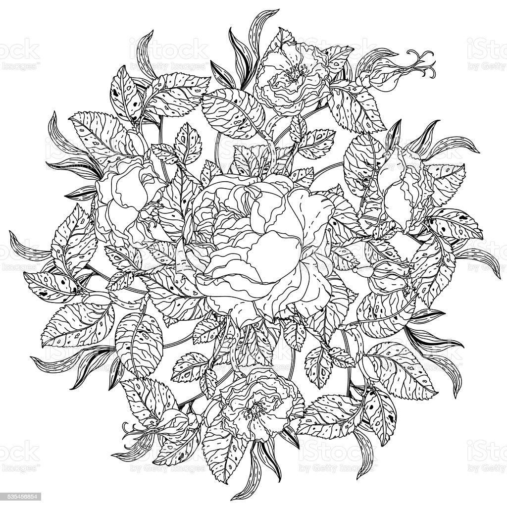 Nature Morte Livre De Coloriage Antistress Vecteurs libres de droits et  plus d'images vectorielles de Abstrait