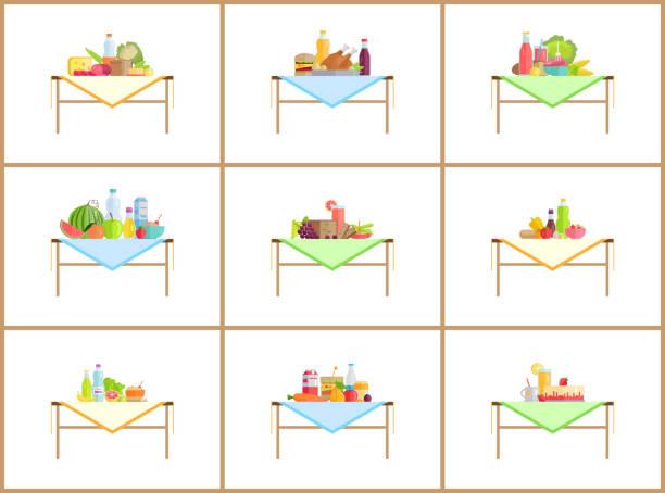 stillleben kompositionen für foto mit food set - karotte peace stock-grafiken, -clipart, -cartoons und -symbole