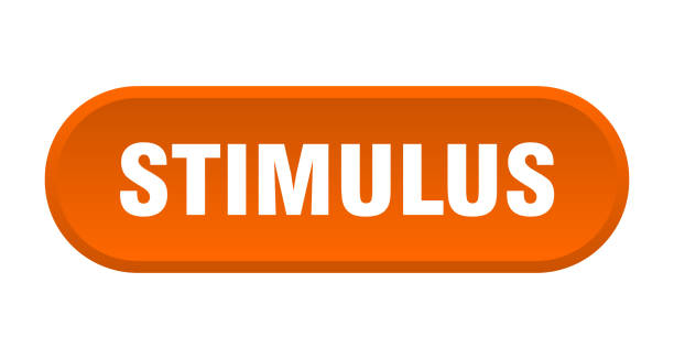 stimulus button. rounded sign on white background stimulus button. rounded sign isolated on white background stimulus check stock illustrations