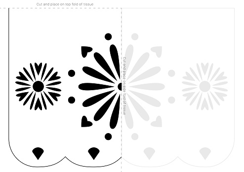 Sting paper stencil template. Day of the Dead banner blueprint