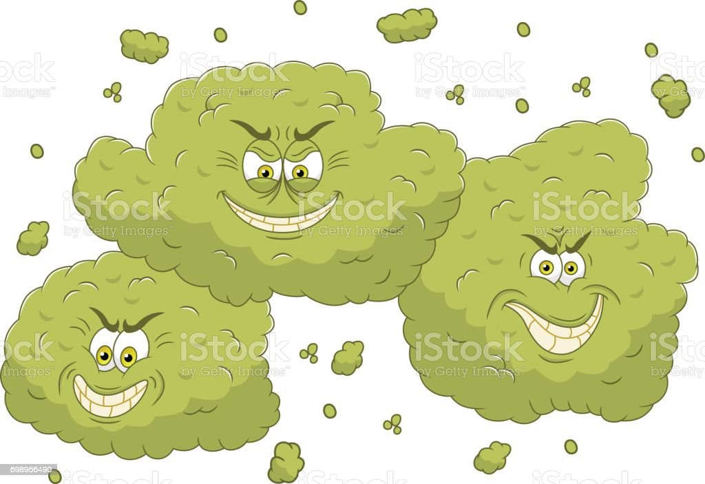 Stinky cloud vector art illustration