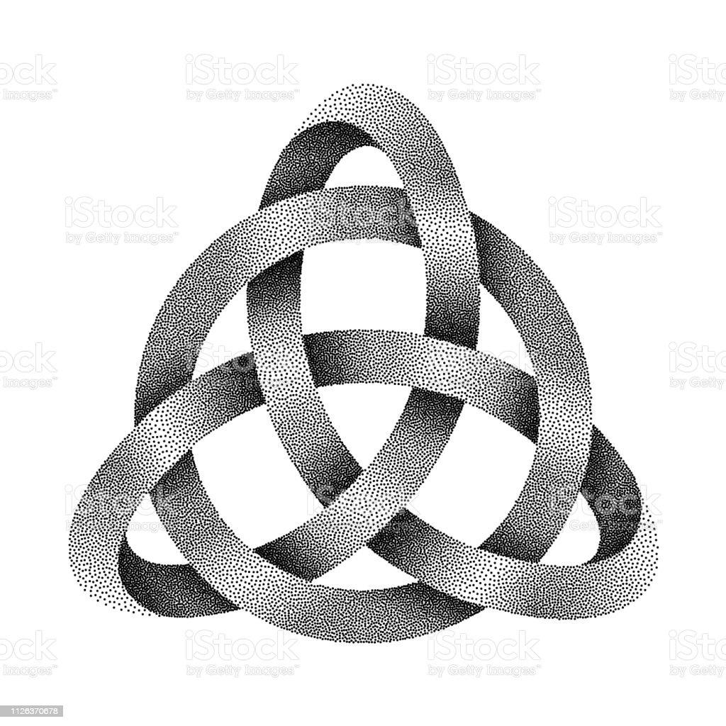 Punzierung Knoten Triquetra Mit Kreis Mobius Streifen Aus