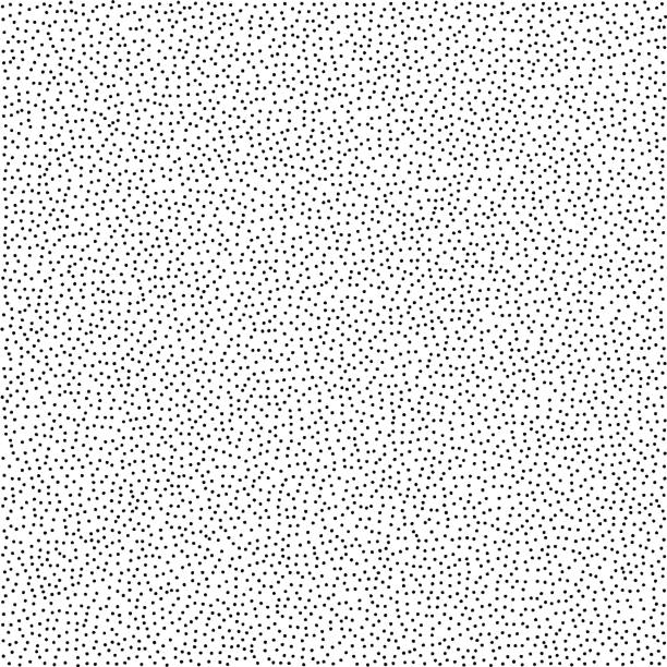 illustrazioni stock, clip art, cartoni animati e icone di tendenza di stippled vector texture background - black dots on white - puntinismo