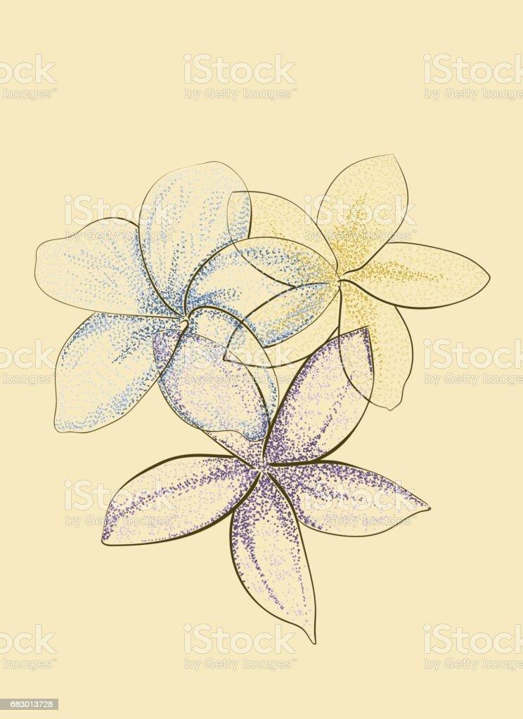 stippling flowers stippling flowers - arte vetorial de stock e mais imagens de abstrato royalty-free
