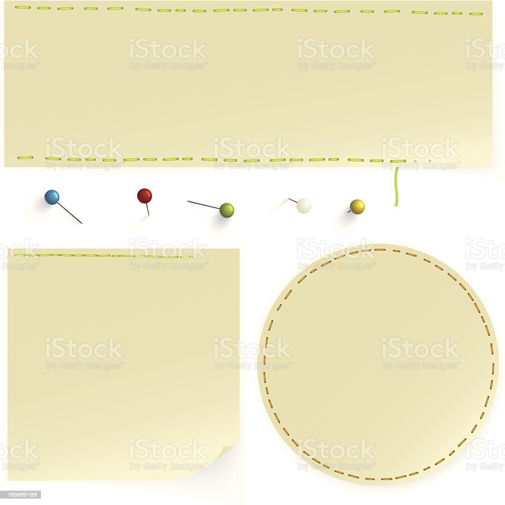 Stitched swatches royalty-free stock vector art