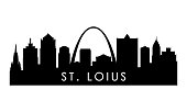 istock St.Louis skyline silhouette. Black St.Louis city design isolated on white background. 1269280121
