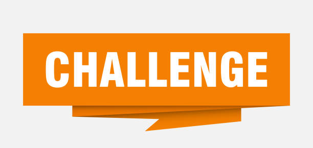 StmpRnd2blue challenge sign. challenge paper origami speech bubble. challenge tag. challenge banner challenge stock illustrations