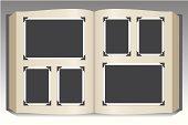 istock Stock art of blank photo album 165066189
