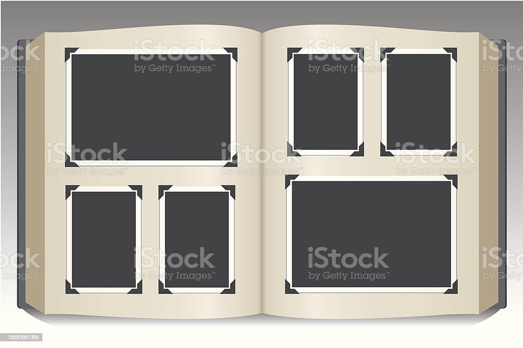 Stock art of blank photo album vector art illustration