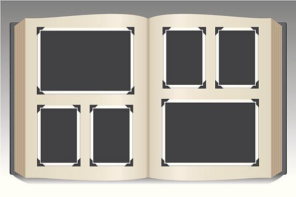 Stock art of blank photo album photo album scrapbook stock illustrations