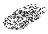 Stock Car Racing Drawing