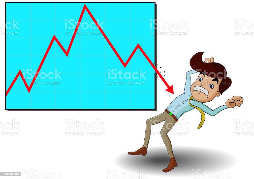 stock down trend cursor pin break out graph to business man stock down trend cursor pin break out graph to business man - stockowe grafiki wektorowe i więcej obrazów akcjonariusz royalty-free