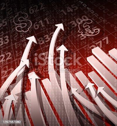 istock stock exchange graph sign 1297587080