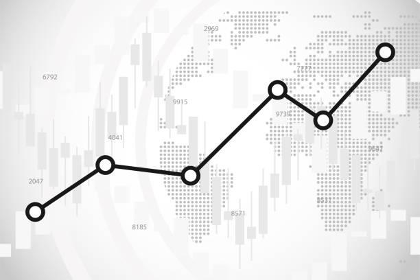 ilustraciones, imágenes clip art, dibujos animados e iconos de stock de fondo vectorial infográfico de intercambio de valores, ilustración de fondo del diagrama de estadísticas financieras - corredor de bolsa