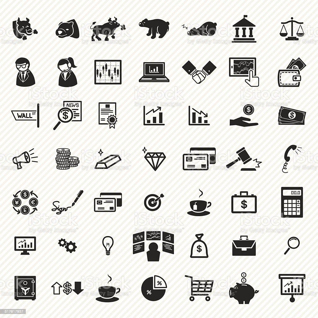 Stock financial icons set. illustration eps10 vector art illustration
