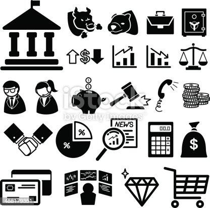 Stock financial icons set  illustration eps10