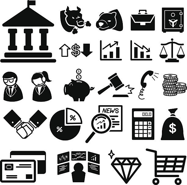 Stock financial icons set Stock financial icons set  illustration eps10 commercial event stock illustrations