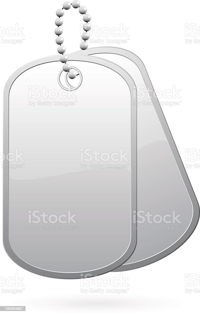 royalty free military dog tag clip art vector images rh istockphoto com dog tag chain clipart dog collar tag clip art
