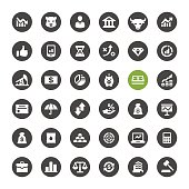 Stock Market and Finance vector icons