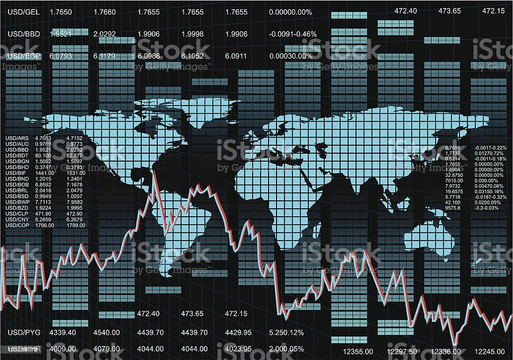 Stock Market Background royalty-free stock vector art