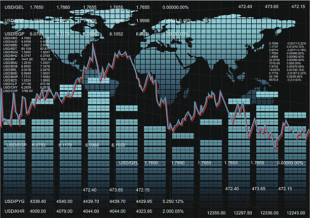 Stock Market Background Abstract Stock Market Charts. Up Graphic.  wall street stock illustrations