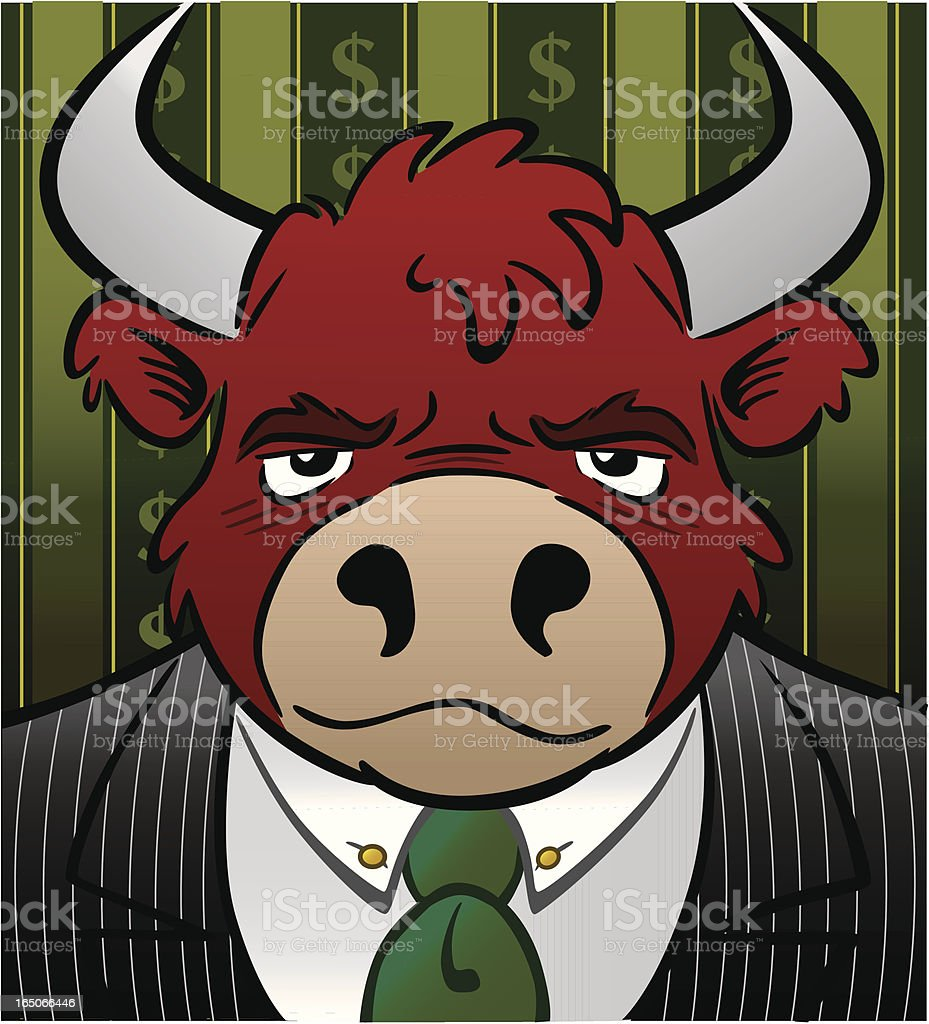 Stock Market Bull royalty-free stock market bull stock vector art & more images of animal