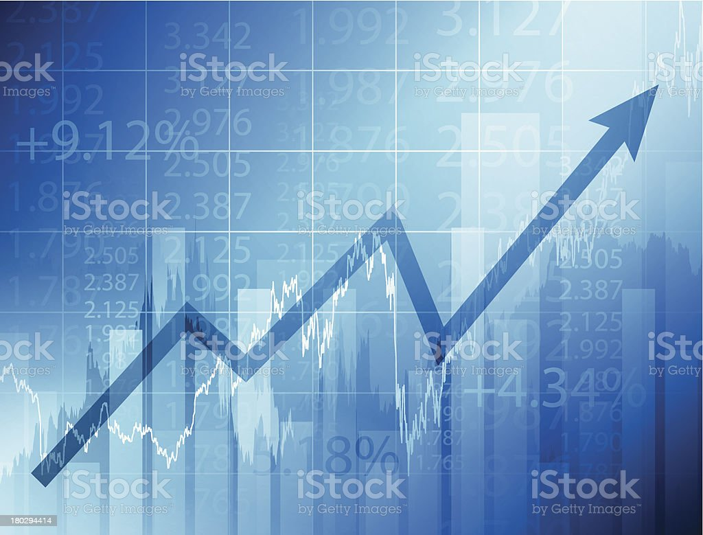Stock market chart vector art illustration