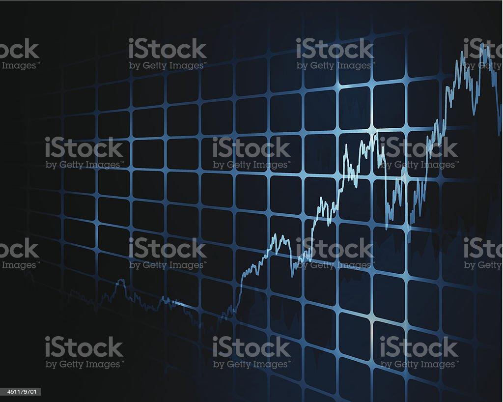 Stock market chart royalty-free stock vector art