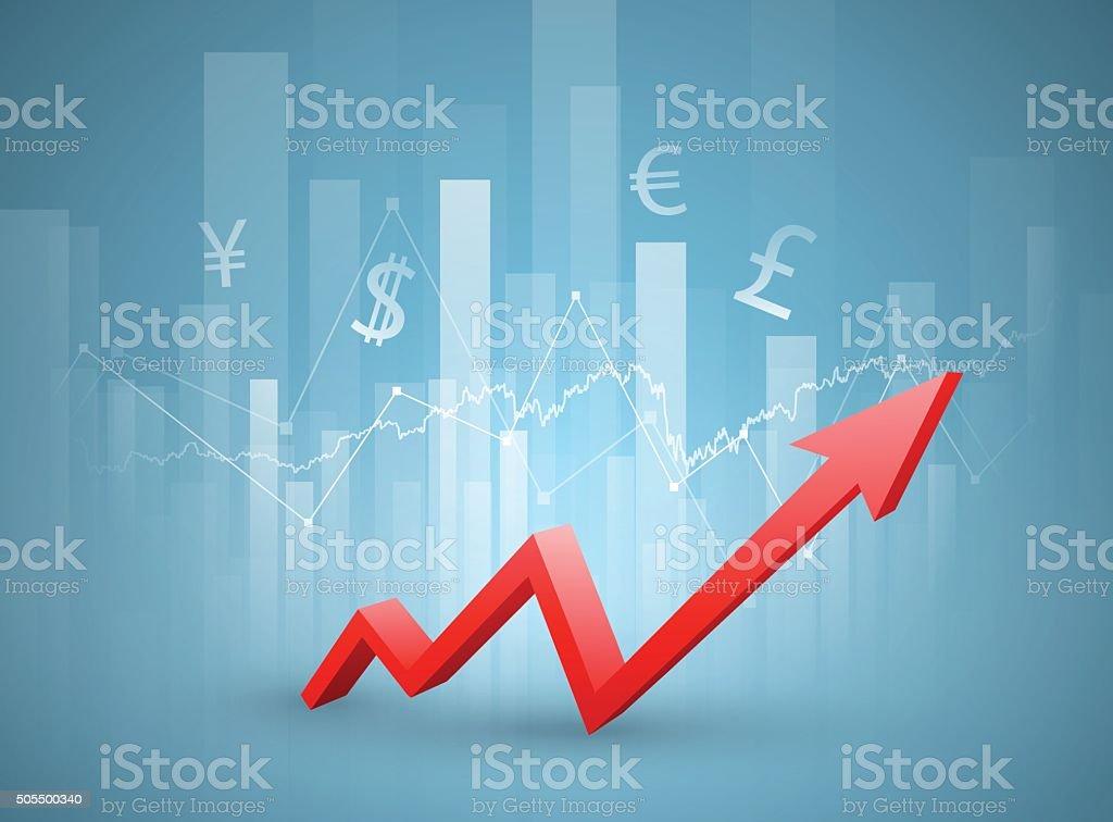 Stock Market Chart Stock Vector Art More Images Of Arrow Symbol