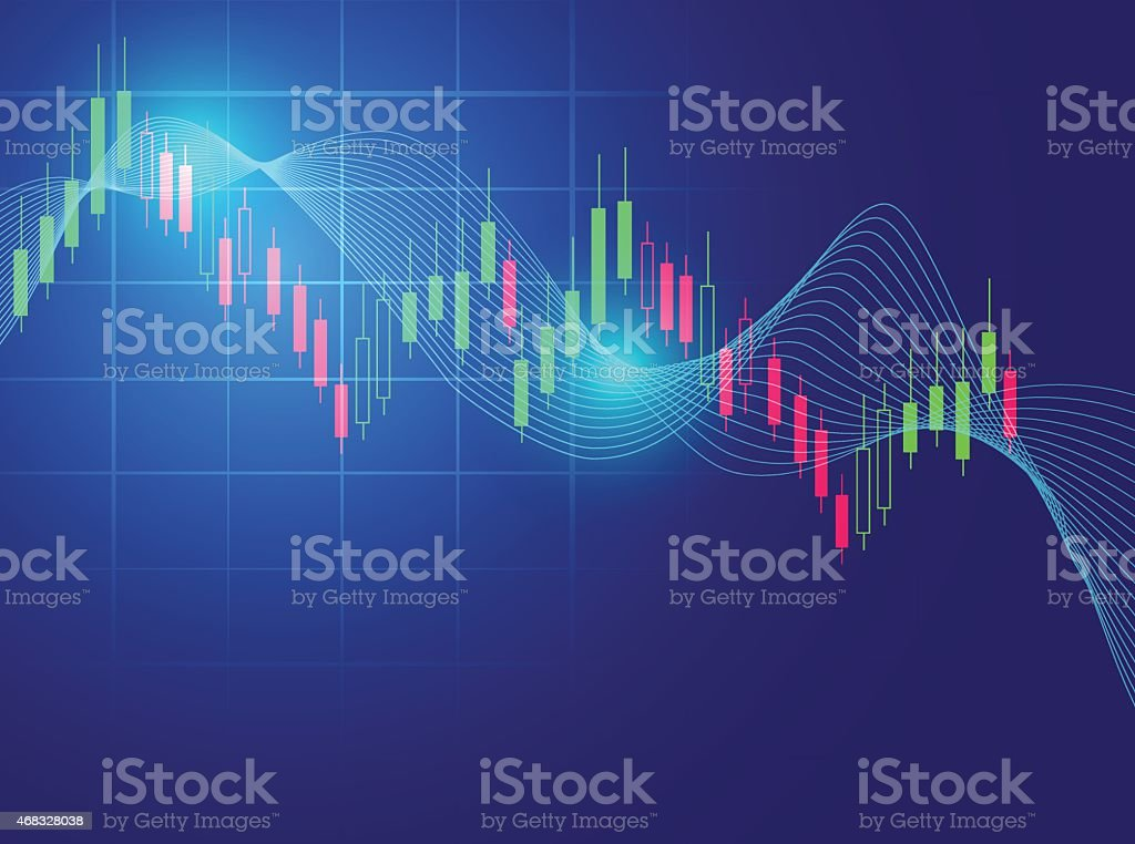 stock market chart vector illustration background vector art illustration