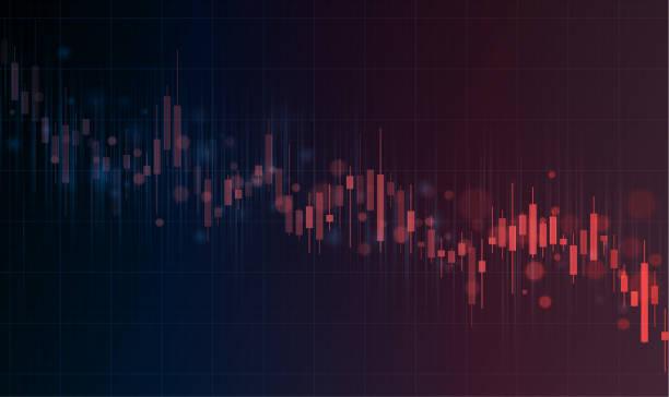 Stock market crash graph vector art illustration