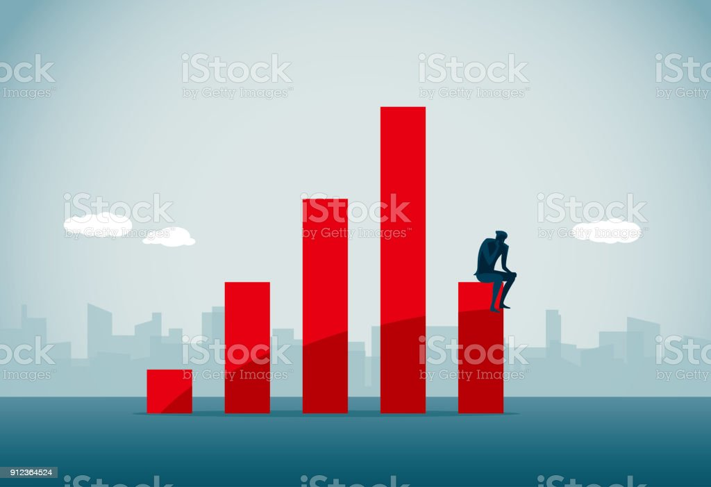 stock market crash vector art illustration