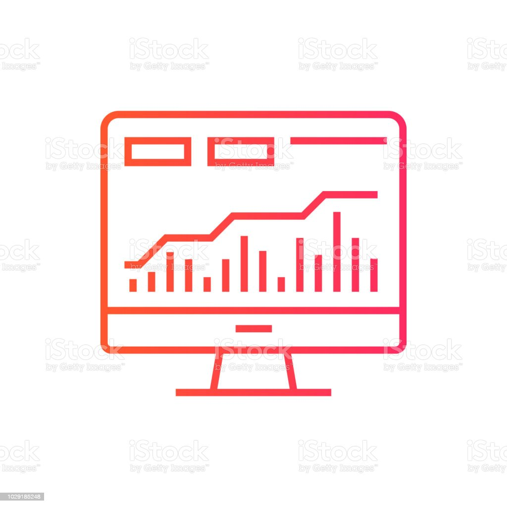 Stock Market Data Icon Vector Illustration For Web Mobile