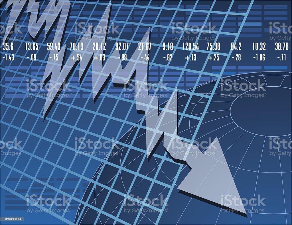 Stock Market Down royalty-free stock vector art