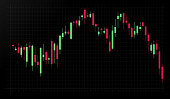 Stock trading commodity chart graph illustration.