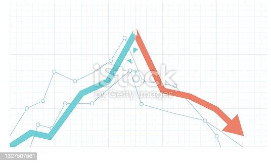 istock Stock market growth and sudden drawdown illustration 1327507561