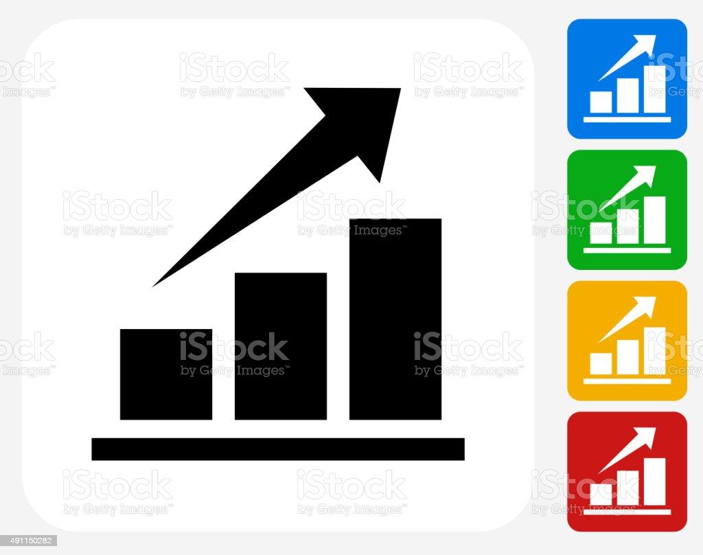Stock Market Icon Flat Graphic Design vector art illustration