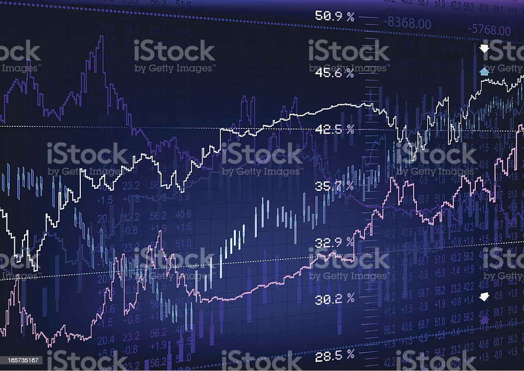 Stock Market Image vector art illustration
