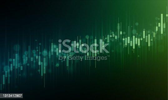 istock Stock market increasing background illustration 1313412907