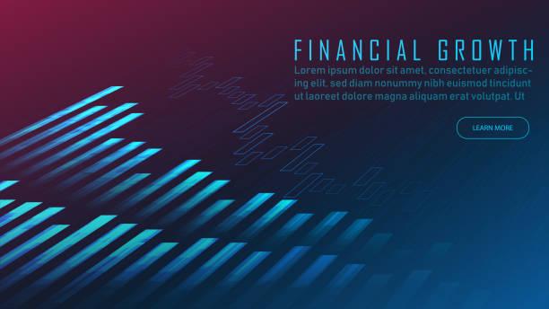 Börsenindikatoren grafisches Konzept – Vektorgrafik