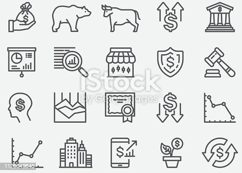 Stock Market Line Icons